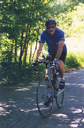Arnie is happy to lead Vermont bicycle tours