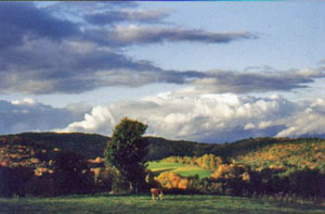 fall foliage and beautiful views in southern Vermont